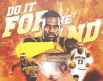 LeBron James Championship Artwork for #NBAArt contest
