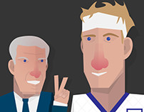 Terry Butcher and Roy Hodgson (Illustration)