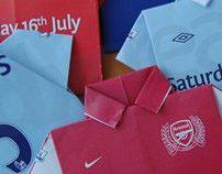 Football Shirt Invites