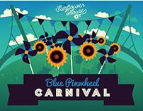 The Sunflower House: Blue Pinwheel Carnival