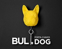 Porta-Chaves Bulldog - 3D Print