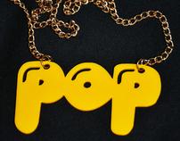 Typographic Pop Necklaces