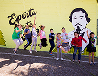 Esperta do teu soño. Muralism with kids