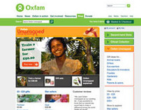 Oxfam Unwrapped Website Refresh