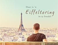 Daar's 'n Eiffeltoring in sy boedel