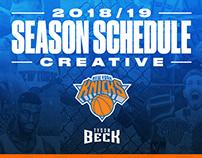 New York Knicks 2018/19 Season Schedule Creative