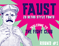Faust – a font in 20 styles