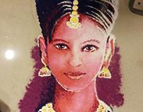 Diwali Rangoli 2016 by Artist Kamal Nishad