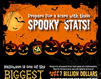 Halloween Spooky Stats on Spending Infographic