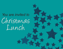 Christmas Invites - Health in Mind (Freelance Work)