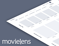 MovieLens Wireframes and Interaction Prototype
