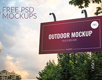 Free 3 Outdoor Psd Mockups Download