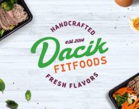 Dacik Fit Foods Brand Identity & website