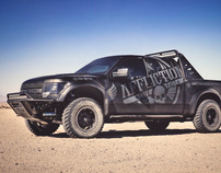 Affliction wrapped Ford Raptor