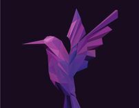 Lowpoly-Hummingbird