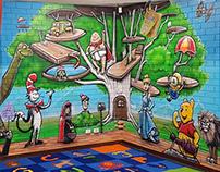 Leeming Primary School Library Mural