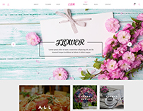 Free - EION - PSD Template for flower shops