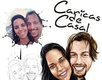 Caricaturas de casal