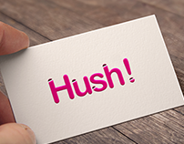 Logo and business cards for Hush Design