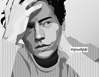 Cole Sprouse Vector Portrait