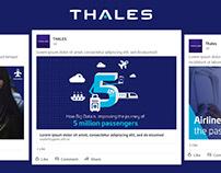 Refonte charte media sociaux - THALES