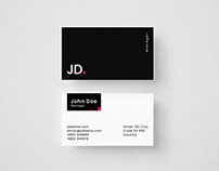 Minimalistic Dark Business Card Template Freebie