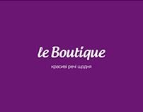 "Le boutique ""Anything for the sake of..."""