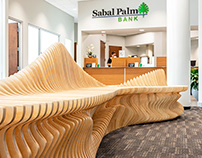 Sabal Palm - CNC Cut Parametric Bench
