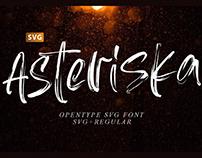 ASTERISKA - FREE TEXTURED BRUSH FONT