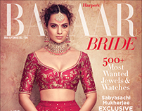 Harpers Bazaar Bride India Cover with Kangana Ranaut