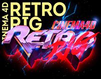 RetroRIG -C4D Title Generator