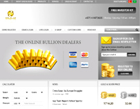 Gold Arab Emirates Website Design