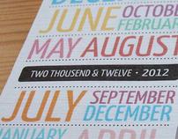 Pocket calendar 2012