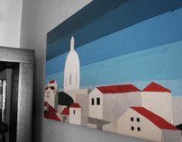 lisboa  30x60  oil on canvas