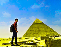 mohanad with the pyramids