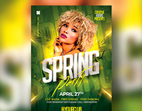 Spring Party Flyer Template - Photoshop PSD