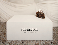 Pop-up store interior design for Nanushka
