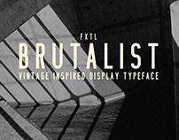 FXTL - Brutalist Typeface