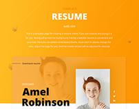 Web Site - Resume