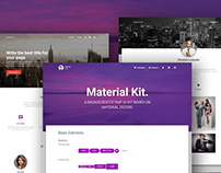 Material Kit - Free Bootstrap UI Kit