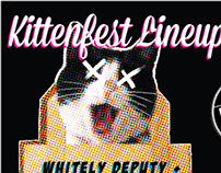 Kittenfest Lineup Drop Party Poster