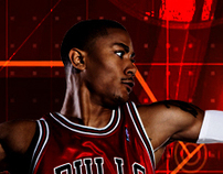 DERRICK ROSE MATRIX POSTER