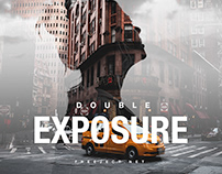Double Exposure Cover Art Design Template