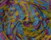 Handmade scarves 02-03: experimental silk & woven