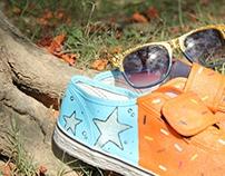 I Like a Star I Hand Painted Shoes I