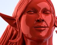 Elf girl sculpt