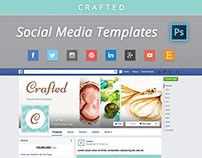 Social Media Templates PSD - Facebook Twitter Cover