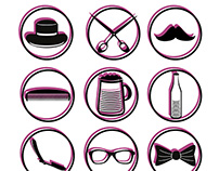 Hipster Icon graphic design vector art
