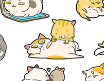 Wico cats | Animated stickers | 2018
