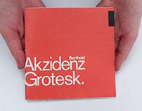 Akzidenz Grotesk Type Specimen Book